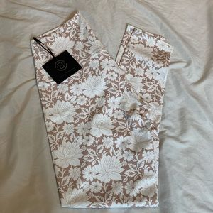 DYI NWT Beige/White Floral leggings